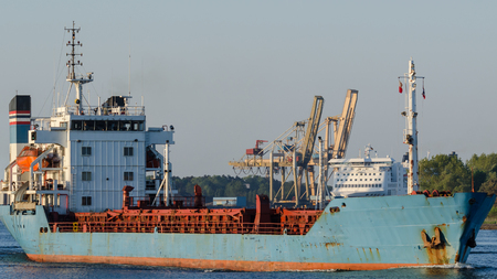 GENERAL CARGO SHIP - Ship and passenger ferry in the port Stock fotó