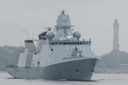WARSHIP - Danish frigate sails to sea for patrol