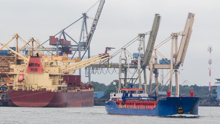 CARGO SHIPS - Freighters in the port of Swinoujscie