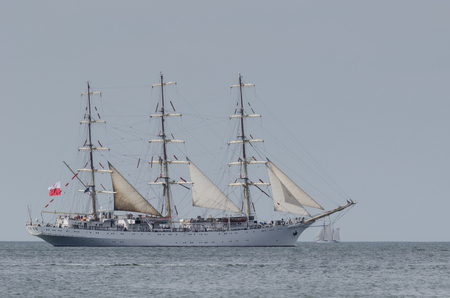SAILING VESSEL - frigate at sea Foto de archivo