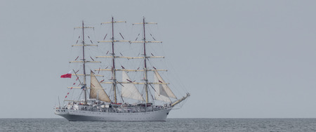 SAILING VESSEL - frigate at sea 版權商用圖片