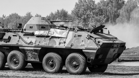 MILITARY - Wheeled armored transporter of Czechoslovakian construction