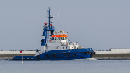 TUG BOAT - Ship is sailing to the port of Swinoujscie