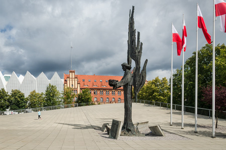 SZCZECIN, WEST POMERANIAN  POLAND - 2018: Angel Freedom - The monument of december 1970 victims