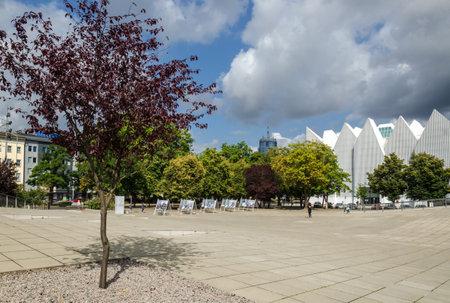 SZCZECIN, WEST POMERANIAN / POLAND - 2018: Opera building and National Museum on Solidarity Square Editöryel