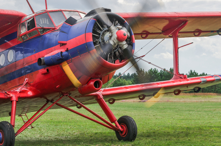 AN OLD GOOD CLASSIC PLANE - Preparations for recreational flights at the airport