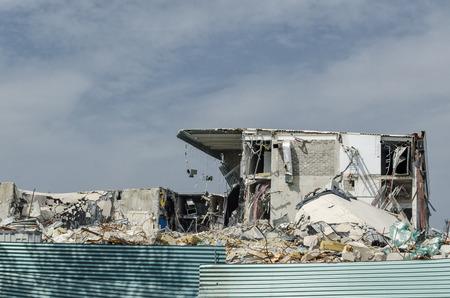 DEBRIS - Demolition of an old building