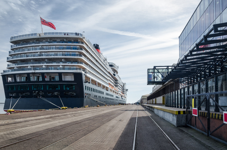 CRUISE SHIP - British majestic passenger ship moored to the port wharf in Gdynia
