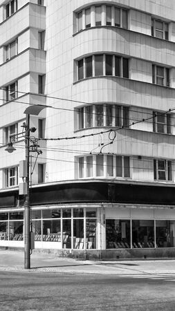 TENEMENT HOUSE ON THE CORNER - Classical urban architecture of Gdynia 写真素材