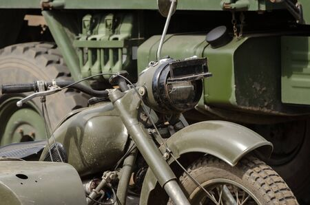 MOTORCYCLE - An old military vehicle from the Second World War