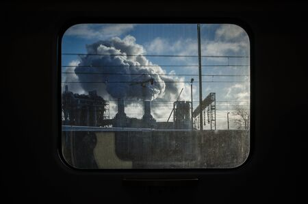 FACTORY - View from the train window
