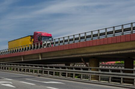TRANSPORT AND INFRASTRUCTURE - Roads on the flyover for vehicles carrying goods