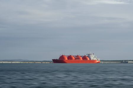 LNG TANKER - A beautiful ship at the gas terminal