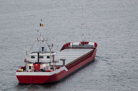 MERCHANT VESSEL - The ship sails with freight to port