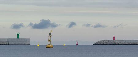 WATERWAY - Breakwaters and seaport navigation signs