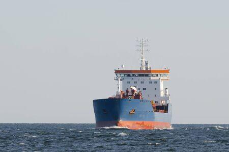 MARCHANT VESSEL - Chemical-Oil tanker flows in waterway Stock fotó