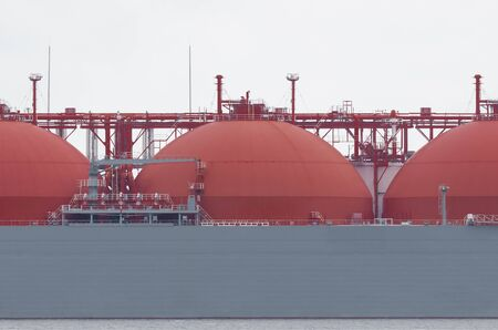 LNG TANKER - Large tanks for the transport of natural gas