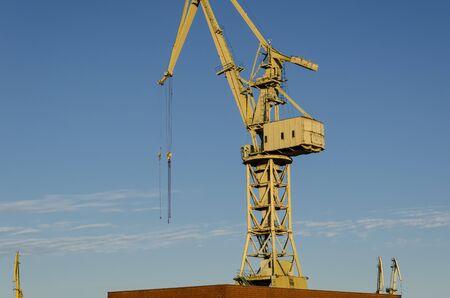 MARITIME TRANSPORT - Crane at the seaports transshipment quays