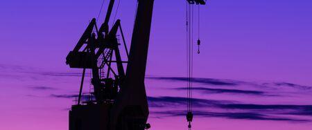 PORT CRANE - A great transshipment machine in a seaport