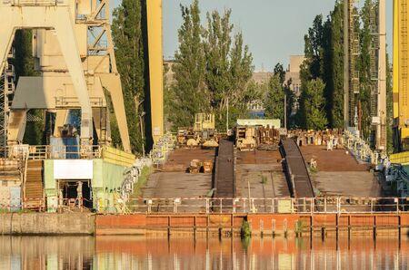 SHIPBUILDING SLIPWAY - Empty space for building ships