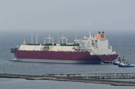 LNG TANKER - The ship goes on a sea voyage