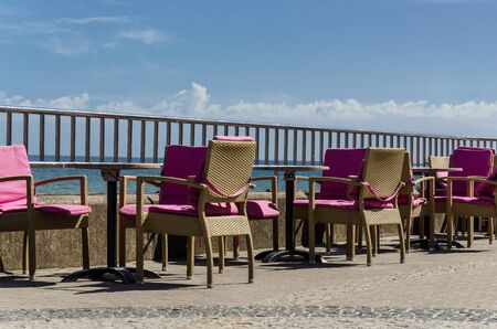 CAFETERIA - Tables for a seaside restaurant on the promenade with a view to the sea