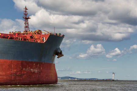 MERCHANT VESSEL - A huge ship goes on a journey to the sea