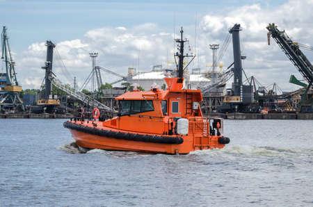 PILOT VESSEL - Fast motor boat in the port