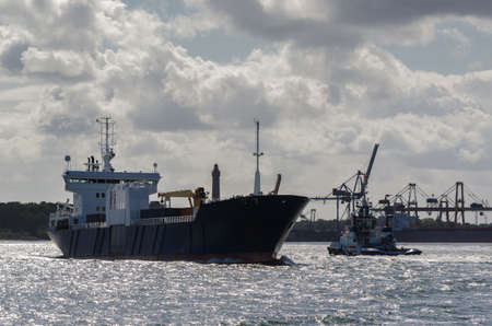 MERCHANT VESSEL - The freighter is going on a cruise to sea