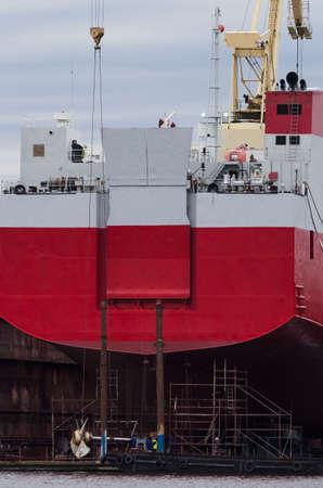 SHIPYARD - Ship under repair dock