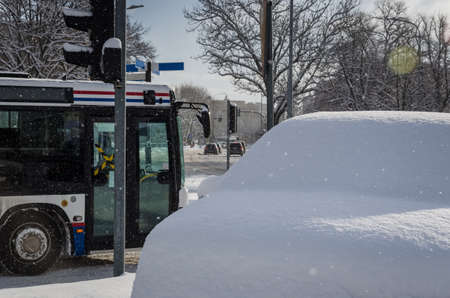 WINTER ATTACK - The city are covered with a thick layer of snow Reklamní fotografie