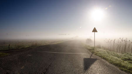 MISTY MORNING - Picturesque weather over the asphalt road