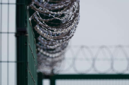 PROTECTING SITE - Separating the area with a fence and razor wire
