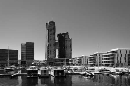 CITYSCAPE - A marina and a prestigious district of a dynamic and modern seaside city 版權商用圖片