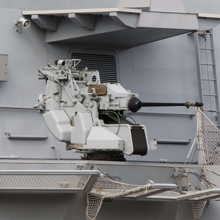 ANTIAIRCRAFT CANNON - An artillery position on deck the Italian guidet missile frigate