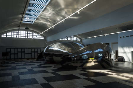 GDYNIA - POLAND - 2021: The interior of the maritime station and also a Museum of Emigration