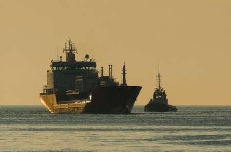 LPG TANKER - Ship is sailing to the sea port 版權商用圖片