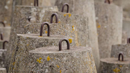 DOLOS - Concrete structures to protect the sea shore Standard-Bild