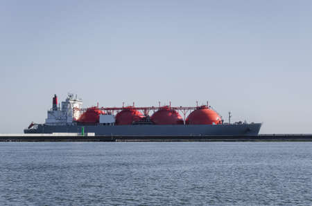 LNG TANKER - The ship sails to the gas terminal in Swinoujscie