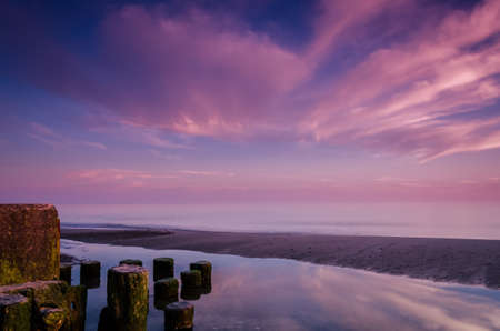 SUNRISE - Sunny morning on the sea coast Standard-Bild