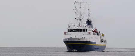 MARITIME TRANSPORT - Marine academy ship on a cruise at sea