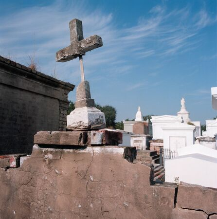 devastated: New Orleans Cemetery Before Hurrican Katrina Devastated the Area Stock Photo