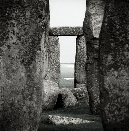 archaeologists: Detail of Stonehenge Monument