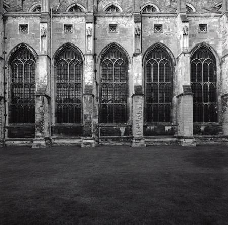 canterbury: Vitres lat�rales et contreforts de Canterbury Cathedral Rock