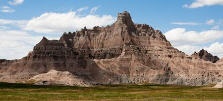 The rugged mountains of the Badlands National Park in South Dakota photo