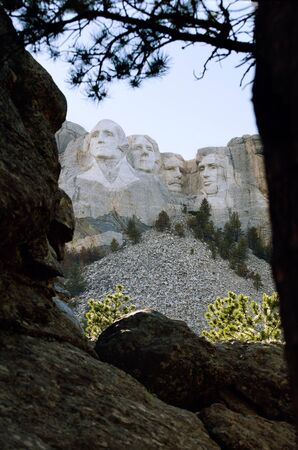 mount rushmore: Presidents at Mount Rushmore Editorial