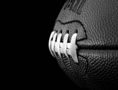 サッカー縫い目 写真素材