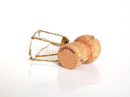 Champagne kurk Stockfoto