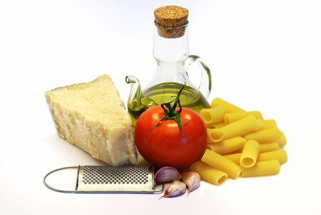 Pasta, de Italiaanse wijze Stockfoto