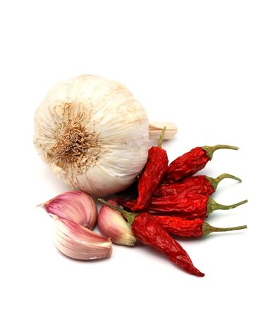 Garlic and chili pepper Zdjęcie Seryjne - 2635372